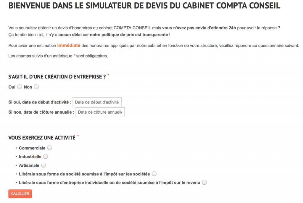 Quotation form for compta-conseil